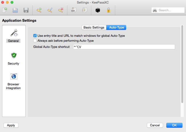 Set global Auto-Type shortcut